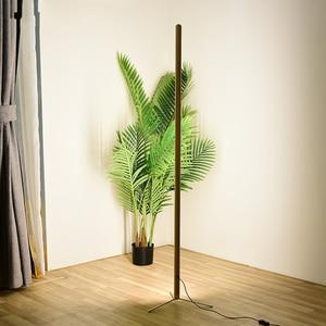 Image 2 - Nordic Minimalist Modern Floor Lamp Creative Site Lamp Personality Led Stand Light Bedroom Living Room Decor Wooden Floor Lights