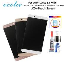 Dla Letv X620 X625 wyświetlacz LCD i ekran dotykowy Le 2 Pro X520 X522 X526 X527 montaż 5.5 dla LeEco S3 X626 + narzędzia + Film + klej