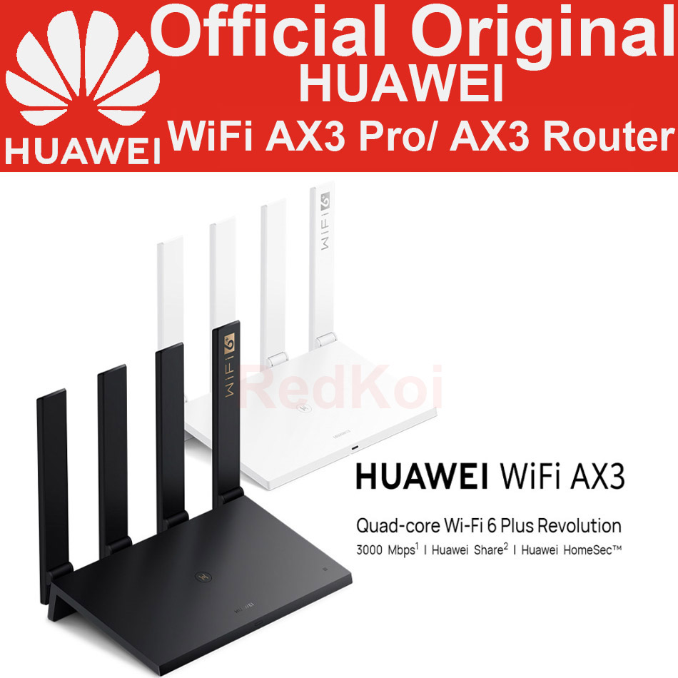 Original Huawei WiFi AX3 Pro Quad-core Dual-core Router WiFi 6+ 3000Mbps 2.4GHz 5GHz Dual-Band Gigabit Rate WIFI Wireless Router