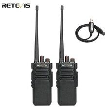 Powerful Walkie Talkie IP67 Waterproof RETEVIS RT29 2PCS UHF/VHF Long Range Two way Radio Transceiver for Farm Factory Warehouse
