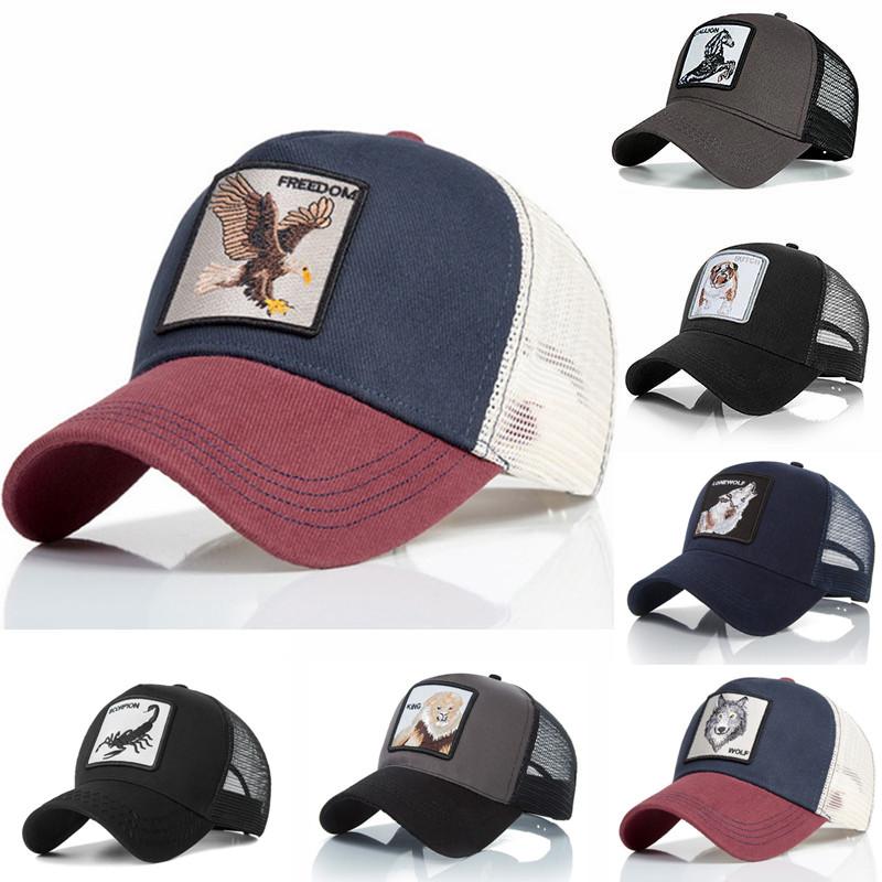 Summer Baseball Cap Embroidery Animal Cotton Men Baseball Cap Women Men Snapback Gorras Trucker hats Hip Hop Caps