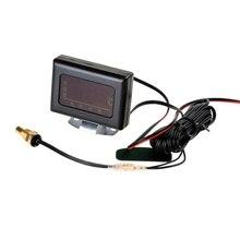 DJSona Universal Car 3 IN 1 LCD 12/24V Truck Digital Water Temperature Gauge Kit Temp Sensor Plug For