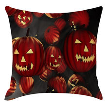 Halloween Pumpkin Ghost Pillow Cover Home Festival Living Room Bed Decorative Sofa Cushion Cover House Soft Fall Pillowcases(China)