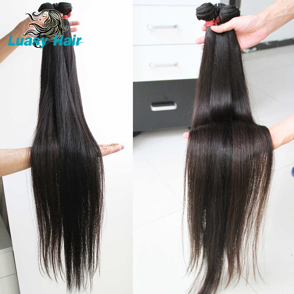 Luasy Braziliaanse Hair Weave Bundels Straight 100% Remy Hair Extension Natuurlijke Kleur 30 32 34 36 38 40 Inch Menselijk haar Bundels