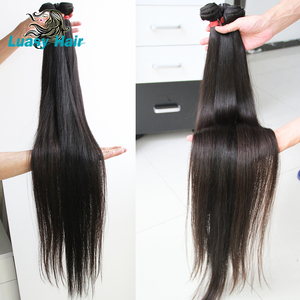 Image 3 - Luasy Brazilian Hair Weave Bundles Straight 100% Remy Hair Extension Natural color 30 32 34 36 38 40 inch Human Hair Bundles