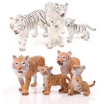 Afrykański dziki świat zwierząt tygrys figurka zwierząt gospodarskich figurki Model imitacja tygrysa modele rodzinne zabawki edukacyjne tanie i dobre opinie criswisd Gotowy żołnierzyk Żołnierz element zestawu Wyroby gotowe Unisex Tiger Figurine animal model as pictures 1 48