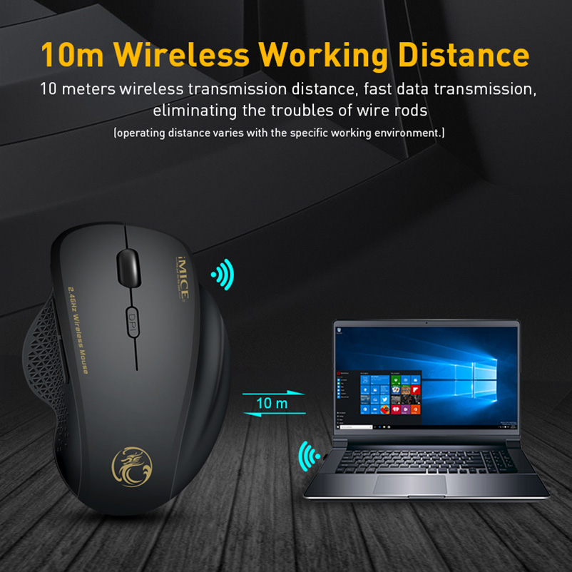 Wireless Mouse Computer Mouse Wireless 2 4 Ghz 1600 DPI Ergonomic Mouse Power Saving Mause Optical
