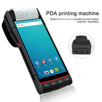 PDA Printer Android 8.1 Barcode Scanner Rugged 1D 2D QR reader NFC 4G handheld wifi bluetooth android pda with printer