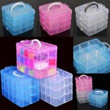 Новые поступления прозрачный пластиковый ящик для хранения ювелирных изделий контейнер Органайзер Чехол коробки для рукоделия