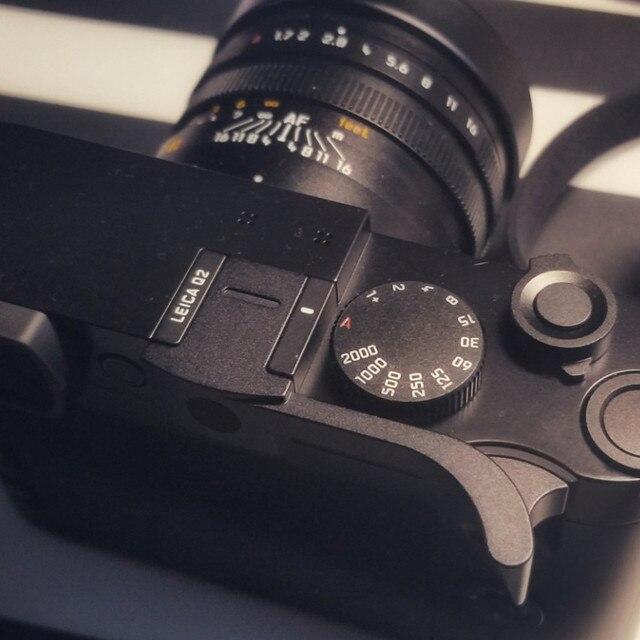 Aluminum Alloy Thumb Handle Metal Thumb Grip Hot Shoe Cover Camera Mount For Leica Q2 Q Typ 116 Black Red