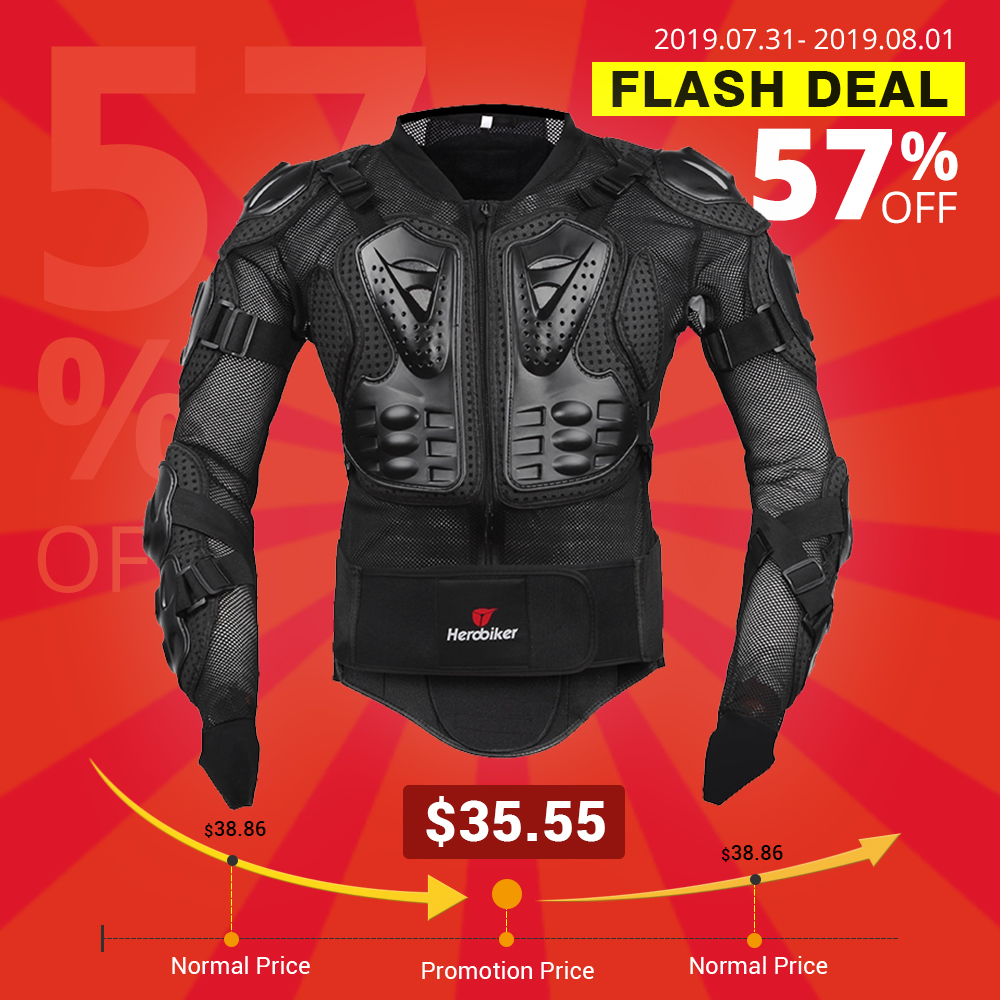 HEROBIKER Motorcycle Jacket Men Full Body Motorcycle Armor Motocross Racing Protective Gear Motorcycle Protection Size S