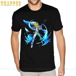 T-shirt manches courtes col rond homme, beau t-shirt manches courtes col rond homme graphique les chevaliers du zodiaque Hyoga Swan Saint Seiya
