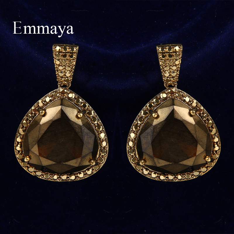Emmaya New Fashion Design Coppery Restoring Ancient Ways Geometry Earring With Cubic Zircon For Women Elegant Jewelry In Party
