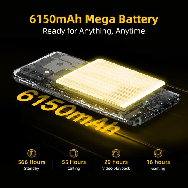 [World Premiere] UMIDIGI Power 5 Global Version Smartphone Android 11 Helio G25 16MP AI Triple Camera 6150mAh 6.53'' Full Screen 3