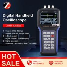 Jinhan osciloscopio portátil JDS2023, generador de función de almacenamiento Digital, de 20MHz osciloscopio, acoplamiento CA/entrada de CC