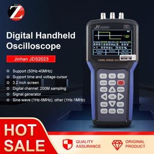 Image 1 - Portable Handheld Oscilloscope  Jinhan JDS2023 Digital Storagesignal function generator 20MHz oscilloscope AC/DC Input coupling