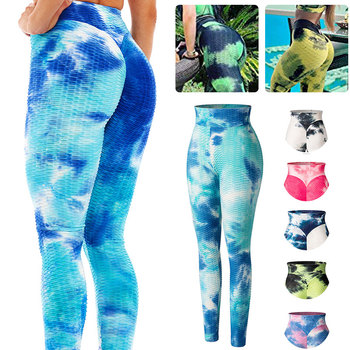 Women High Waist Ruched Butt Lifting Leggings Tie-Dye Workout Legging Stretchy Booty Enhancing Textured Fitness Push Up Pants women plus size camouflage print workout shorts high waist compression leggings ruched butt lifting fitness running hot