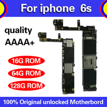 Full unlocked for iphone 6S 6 S Motherboard With/Without Touch ID,Original for iphone 6S Mainboard with Full Chips,16GB 64G 128G international language original n7100 mainboard chips logic 16gb for samsung galaxy note 2 motherboard