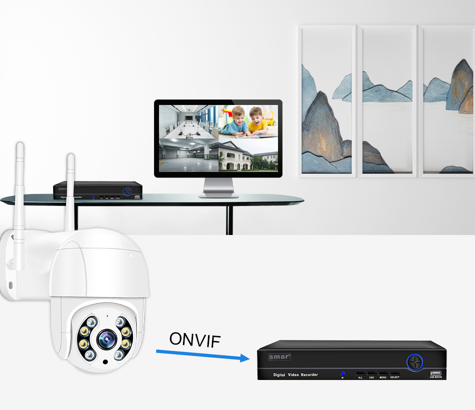 Smar 1080P Outdoor PTZ Wireless IP Camera 4X Digital Zoom Speed Dome Mini WiFi Security CCTV Audio Camera Auto tracking of Human (12)