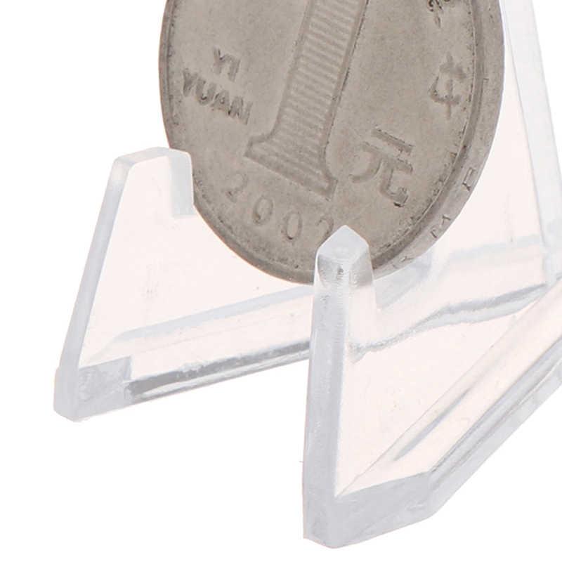 1 قطعة المقتنيات الاكريليك عملات حامل ميدالية شارة حامل بطاقة عرض عرض موقف حامل المجوهرات