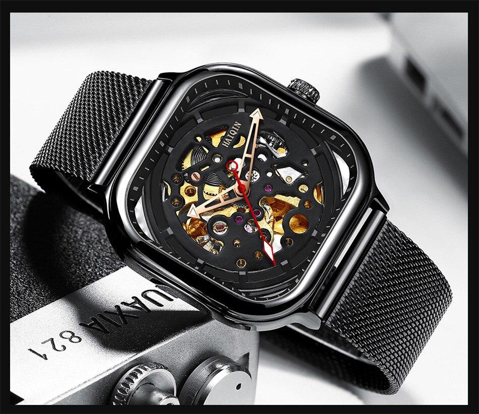 H7b8ee19c40894c6fa0eb733bf25bddbcb HAIQIN 2019 Fashion Mechanical mens watches top brand luxury sport wristwatch men waterproof Quartz mens clock Relogio Masculino
