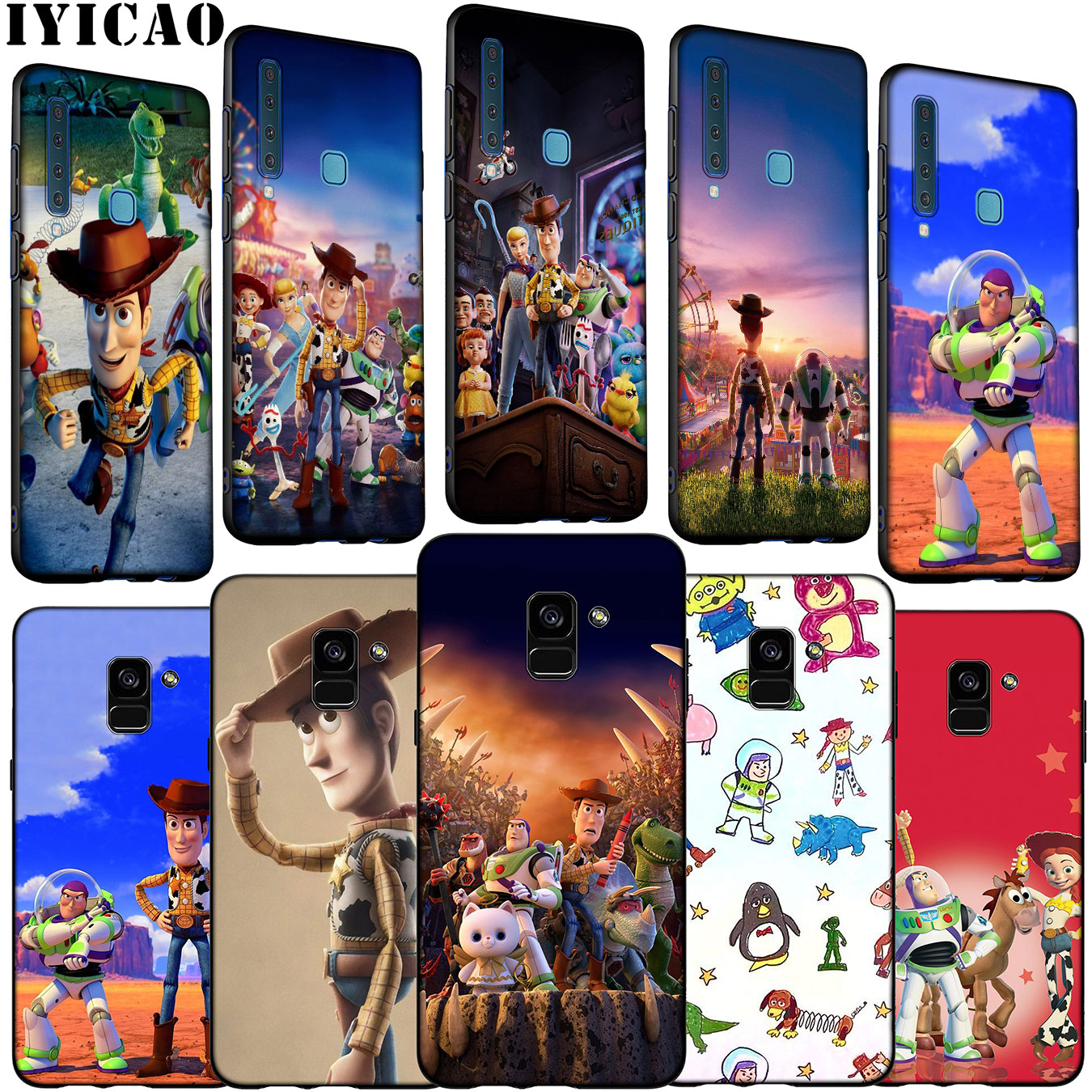 Toy Story 4 Soft Silicone Phone Case for Samsung <font><b>Galaxy</b></font> A6 A7 A8 A9 <font><b>2018</b></font> A3 A5 2016 2017 Note 9 <font><b>8</b></font> 10 Plus image