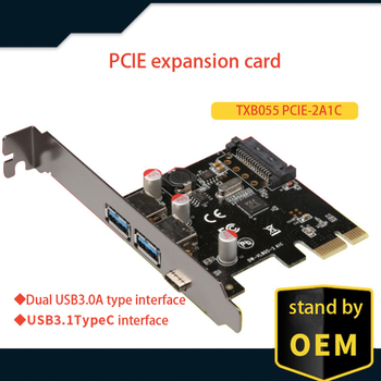 VL805 chipset USB 3.1 Type C PCIe expansion card PCI-e to 1 Type C and 2 Type A 3.0 USB adapter PCI Express riser card адаптер lenovo system x3550 m5 pcie riser 1 1xlp x16cpu0 00ka061 page 9