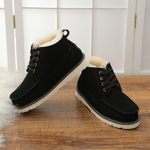 Image 4 - UVWP New Fashion Warm Natural Fur Snow Boots Men Genuine Leather Winter Boots Non slip Mens Shoes Designer Shoes Men Luxury 2020