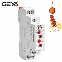 GEYA GRV8-04 3 Phase Voltage Monitoring Relay with Phase protection Delay Time Overvoltage and Undervoltage Relay Din Rail the phase protection relay 380v power broken phase fault phase overvoltage and undervoltage detection monitoring rd6 w