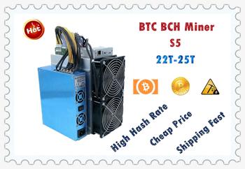 BTC górnik S5 22T z zasilacz ekonomiczne niż Antminer S9 S9k S9j S17 T17 S17E S17 + T9 + WhatsMiner M3X M21S M20S Ebit E9 E10 tanie i dobre opinie YUNHUI 10 100 mbps S5 22T+ -5 2100W+7
