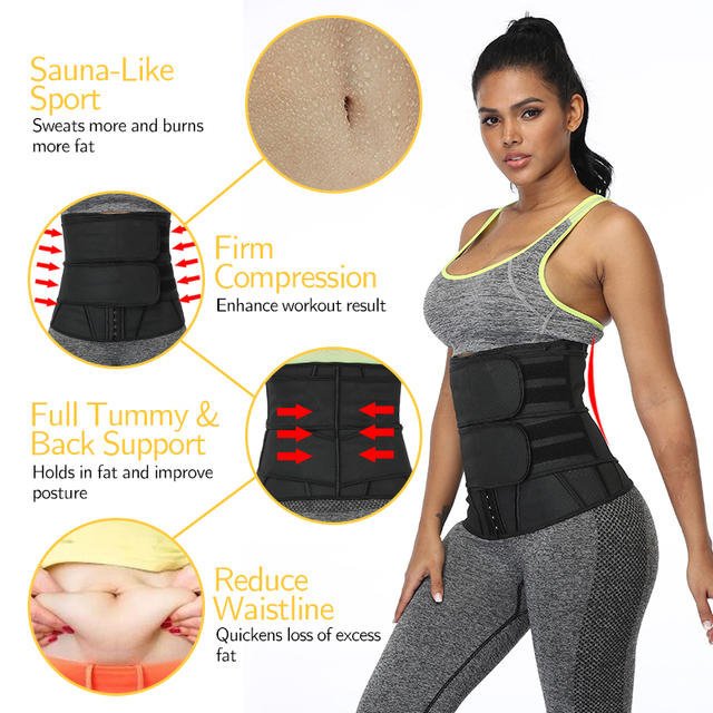Boned Latex Waist Trainer Corsets for Women Weight Loss Body Trimmer Belt Slimming Shaper Workout Faja Compression Sweat Girdles 3