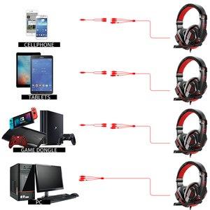 Image 5 - Cuffie da gioco cablate per PS4/cuffie per telefoni cellulari Mic cena Stereo Bass per Sony PlayStation 4 auricolare PS4