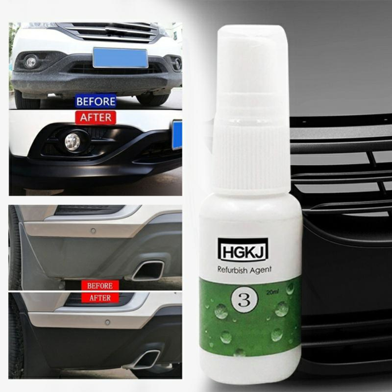 20ml/50ml Car Interior Leather Plastic Coating Clean Refresher Cleaner Leather Paint Care Polish Auto Maintenance Accessories