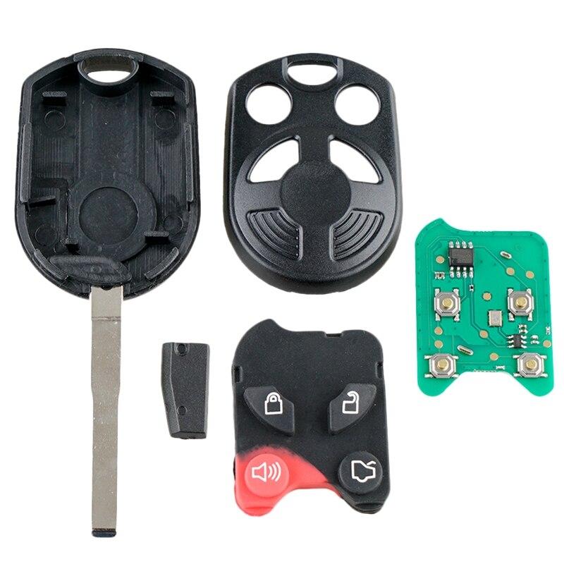 Otomobiller ve Motosikletler'ten Anahtar Boşlukları'de Araba akıllı uzaktan anahtar 4 düğmeler araba anahtarı Fob Fit 2012 2016 için f o r d d F c u s 315Mhz Oucd6000022 title=