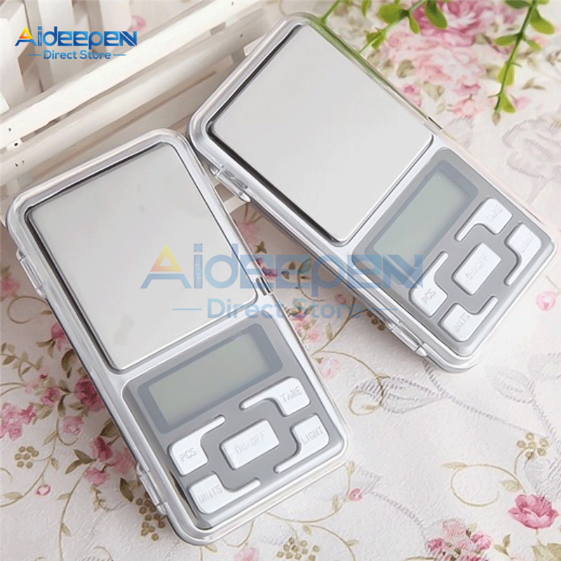 Mini Portable LCD Digital Electronic <font><b>Scale</b></font> 100/200/300/500g 0.01/0.1g High Accuracy Pocket <font><b>Scale</b></font> For <font><b>Kitchen</b></font> For Jewelry <font><b>Weight</b></font> image