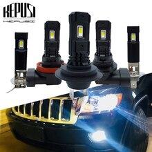 цена на 2Pcs H7 H11 LED Lamp Super Bright LED Car Fog Lights H1 H3 H8 9006 12V 24V 6000K White Car Driving Running Light Auto Led