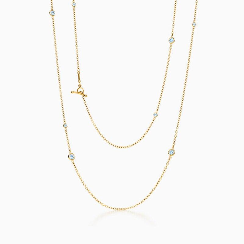 SHINETUNG Original 1:1 S925 collier en argent Sterling couleur or clavicule chaîne collier à la mode femmes bijoux fins haut de gamme