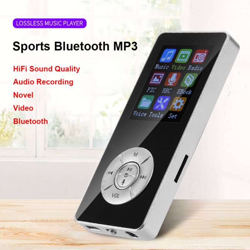 Hot 5 Keys MP3 Music Player For Bluetooth 4.2 1.8 Inches Color Screen 250mAh Dual Mode Plug-and-play Voice Recorder