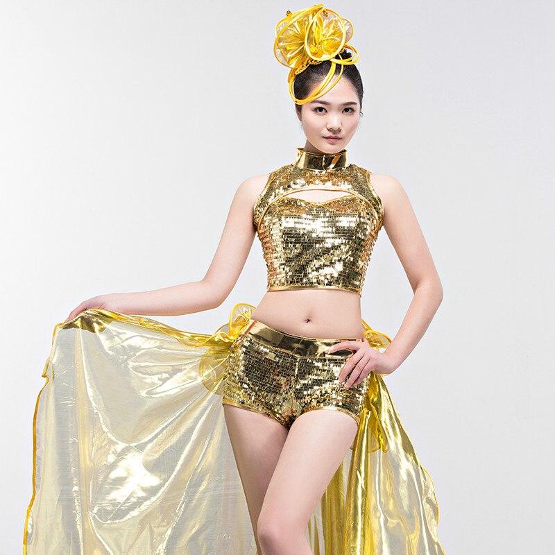 Бренд 2019, Женская юбка для джазовых танцев, большая юбка для танцев, современный танцевальный костюм, длинная юбка с блестками, сексуальная