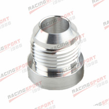 AN-10 10AN -10AN Male Aluminum Weld On Fitting Round Base Silver