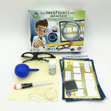 Stem Junior Students DIYToy Set Science and Education Series Fingerprint Exploration Science Experiment Physics Small Production 2018 new outdoor game style children s science experiment stem science education science educational toys 7 in 1 detective glove