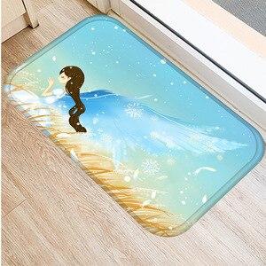 Image 2 - 森アニマル柄ノンスリップ寝室装飾カーペット台所の床リビングルームのフロアマット浴室ノンスリップドアマット40x60cm。