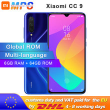 "Global ROM Xiaomi Mi CC9 64GB ROM 6GB RAM Mobile Phone Snapdragon 710 48MP Triple Camera 32MP Front Camera 6.39"" Full Scr"