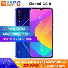 """Küresel ROM Xiao mi mi CC9 64GB ROM 6GB RAM CEP TELEFONU Snapdragon 710 48MP üçlü KAMERA 32MP ön Kamera 6.39 """"Tam Scr"""