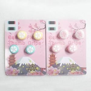 Image 5 - Cute Girl Flower Sakura Thumb Stick Grip Cap Joystick Cover For Nintend Switch Lite NS JoyCon Controller Gamepad Thumbstick Case