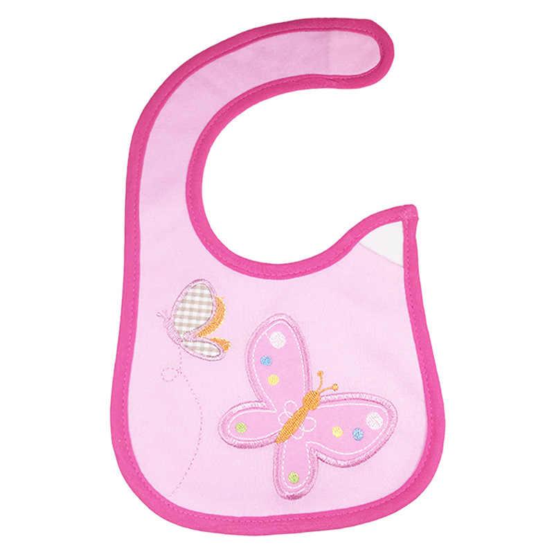 새로운 방수 아기 Bibs 목화 먹이 작업복 만화 귀여운 패턴 소년 소녀 Burp Cloths 유아 Slobber 침 타월 0-3 년