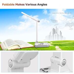 Image 5 - Esnek masa lambası 1800mAh şarj edilebilir lambaları masa 30 adet Led masa lambası 5 mod karartma dokunmatik ofis iş Led masa lambası