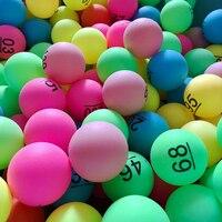 Одна упаковка цветных мячей для пинг-понга 40 мм 2,3 г развлекательная лотерея смешанные цвета для рекламы игр и активности