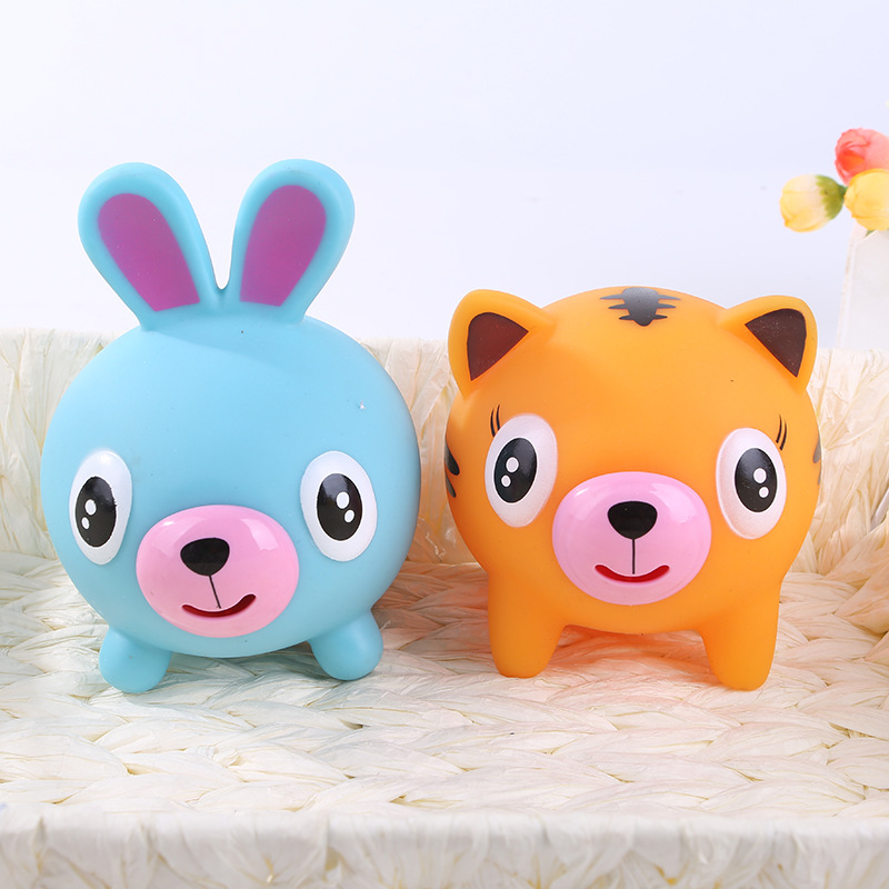 Tongue Voice Animal Squeeze Decompression Novelty Vent Vocal Toys Dogs Unicorn Rabbit Pig Tiger Puppy Squishy Anti-Stress Dolls