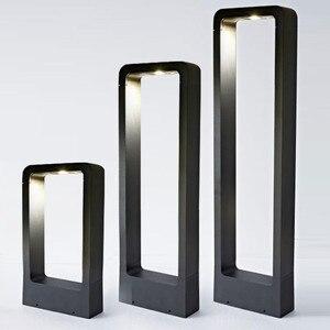 5 sztuk IP68 wodoodporna 15W LED lampa ogrodowa nowoczesna aluminiowa lampa na filarze odkryty dziedziniec willa trawnik krajobrazowy słupki światła